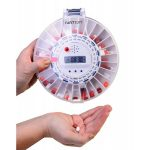 MED-E-LERT Electronic Medication Reminder & Dispenser Clear Top