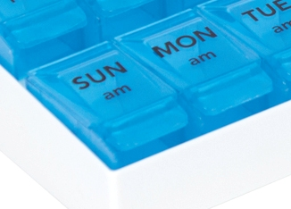 PM Push-to-Open Pill Organizer