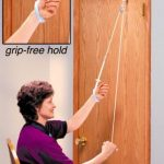 Pull-Easy Grip-Free Shoulder Pulley with Door Bracket