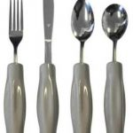Weighted Eating Utensils with Large Handles Set