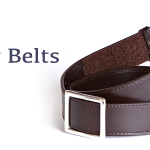 Myself Belts Adult Brown Leather Belts
