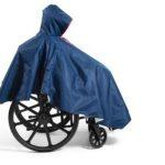Wheelchair Winter Poncho Navy